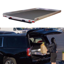"""Cargo-Glide CG1500 Suburban/Yukon XL Steel Truck-Bed Slide and Extender, 1500 lb Capacity, 65-75% Extension, 4"""" Side Rails, 4.25"""" Deck Height, Includes Installation Kit"""