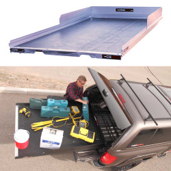 """Cargo-Glide CG1800HD Suburban/Yukon XL Steel Truck-Bed Slide and Extender, 1800 lb Capacity, 65-75% Extension, 4"""" Side Rails with 8"""" High Sides, 4.75"""" Deck Height, Includes Installation Kit"""