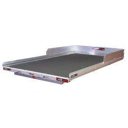 """Cargo-Glide CG2200HD Suburban/Yukon XL Steel Truck-Bed Slide and Extender, 2200 lb Capacity, 65-75% Extension, 4"""" Side Rails with 8"""" High Sides, 5.25"""" Deck Height, Includes Installation Kit"""