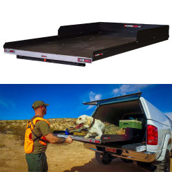 """Cargo-Glide CG1000XL Suburban/Yukon XL Steel Truck-Bed Slide and Extender, 1000 lb Capacity, 100% Extension, 4"""" Side Rails with 8"""" High Sides, 4.5"""" Deck Height, Includes Installation Kit"""
