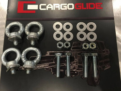 "CargoGlide CGIK-Alum Aluminum Bed Installation Kit. Includes Bolts and Aluminum Washers, Installs 79"" or Shorter CargoGlide, 80"" or Longer CargoGlide, or XL 100% CargoGlide"