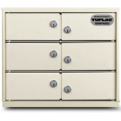 Tufloc 73-850-6 Modubox Lockers, 12x15x18, Stackable, can be ordered in any configuration with Tufloc Lockers and Lockboxes, available in Numbered Lockers and Master Keyed Systems