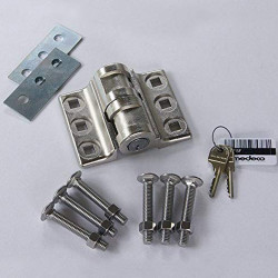 Tufloc 50-Series High-Security Door Locks for Vans and Buildings, Stainless Steel, Features Medeco high-security cylinders, Mounts to Fit Inward, Outward, Double-Swinging, Sliding and Roll-Up Doors, Criminal Resistant Design