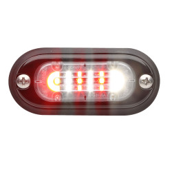 Whelen TLMI2 ION Mini T-Series Linear Super-LED DUO Lighthead, 69 Scan-Lock Flash Patterns, Surface or Flush Mount, Includes Black flange, or  Optional Chrome Flange available