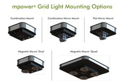 "Soundoff mPower GRID LED Mini Light Bar, 1x1 Single Stack, Single or Dual Color LEDs, 7.46"" L x 1.5"" H, EMPGLS"