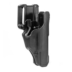 BLACKHAWK 44N1 T-SERIES™ L2D Non-Light Bearing Duty Holsters with weapon option, available in Left or Right Hand Option, Black