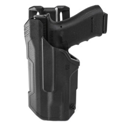 BLACKHAWK 44N2 T-SERIES™ L2D Light Bearing Duty Holsters with weapon option, available in Left or Right Hand Option, Black