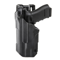 BLACKHAWK 44N6 T-SERIES™ L3D Light Bearing Duty Holsters with weapon option, available in Left or Right Hand Options, Black