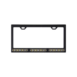 SoundOff Signal mpower 4 Inch Quick Mount License Plate Frame, choose single 6-LED or dual 12-LED Color Lights