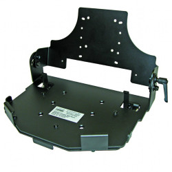 Lund Industries UNVTAB3-MT Universal Tablet Clamshell mounting system with TG-3 Keyboard Tray Options and Optional Universal Adjustable Locking Tablet mount