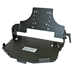 Lund Industries UNVTAB4-MT Universal Tablet Clamshell mounting system with iKey Thin Keyboard Tray Options and Optional Universal Adjustable Locking Tablet mount