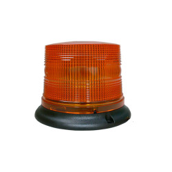 Brooking B17 Low Dome 3W 4-DIODE LED Beacon, 5x6, Choose Magnetic or Permanent Mount, Available in Amber