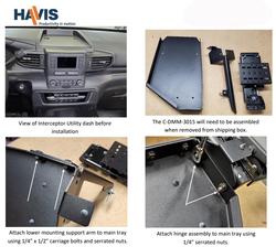 Havis C-DMM-3015 Ford Law Enforcement Interceptor Utility 2020 Dashboard Computer Dashboard Monitor or Tablet Mount, Flip-up, 12 lb weight threshold, 3000 Series