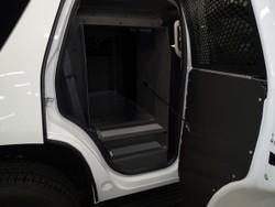 """Havis K9-C20-32 Police K9 Dog Kennel Box Transport System for Chevy Tahoe 2007-2014, Choose White or Black, Compact 32"""" Model, Designed to Maximize Officer Space and Visibility"""