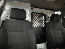 Havis K9-C23-PT Police K9 Dog Kennel Box and Prisoner Transport System for Chevy Tahoe 2015+, Choose White or Black, K9 Space on Driver Side, Prisoner Space on Passenger Side