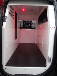 Havis K9-F23 K9 Dog Kennel Transport System for 2015-2019 Ford F-150 and F-150 Special Service Vehicle (SSV) Crew Cab Pickup, 2017-2019 F-250, F-350, F-450 Crew Cab Pickup, F-450 and F-550 Crew Cab /Cab Chassis, Choose White or Black