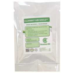 CleanBay Air Shield Portable Dry Pack eliminates odor for 50 sq. ft., CBASPOE011
