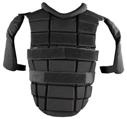 Damascus DCP-2000 Police Riot Gear, Chest, Back and Shoulder Protection, a premier upper body protection unit, with shoulder pads with hard shell plastic inserts and foam padding, adjustable reinforced straps with Velcro®, Non-ballistic