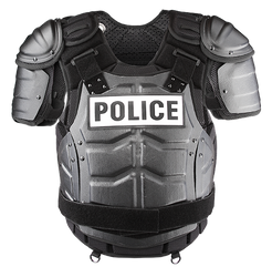 Damascus DFX2 IMPERIAL™ ELITE, Law Enforcement Riot Gear, Chest, Back and Shoulder Protection, includes Aluminum Chest Plate, hard shell front and back panels, Stab plate insert, etc., Shoulder and side adjustable