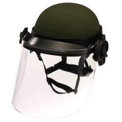 Paulson DK6-H.150 Field Mount Tactical Face Shield designed to fit most ballistic helmets (ACH, MICH, and PASGT style).  Shield length is 8 inches. Shield thickness is .150 inches.
