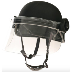 "Paulson DK5-H.150S - Field Mount Tactical Face Shield designed to fit PASGT ballistic style helmets only. Helmet not included.  Shield length is 6 "", to accommodate a gas mask, Shield thickness is .150""."