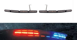 Soundoff mPower Ford Law Enforcement Interceptor Utility 2013-2019, 2020, Arrow Stick and Warning Light Bar, Exterior Spoiler Mounted, 3-wire, configurable, programmable, choose 1 2 or 3 colors per head, EMPAK