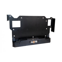 Havis PKG-DS-DELL-701 Low Profile Fixed Docking Solution for Dell's Latitude 12 Rugged Tablet with Screen Blanking Dongle, Optional IP65 Compliant Model with 5V or 12V Powered Serial Port