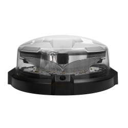 SoundOff nROADS™ LED Dual Color Beacon, 4x7, Choose Magnetic or Permanent Mount, Low Dome, 6 or 12 LEDs