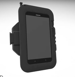 Havis PKG-TAB-SAM7 Docking Station (Charge Only) and Tablet Case for Samsung Galaxy S4, Works in Portrait and Landscape Orientation