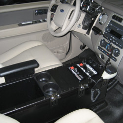 Havis C-3010 30 Inch Enclosed 10 Inch high Universal Console for SUVs & Trucks, with Optional Floor Plate