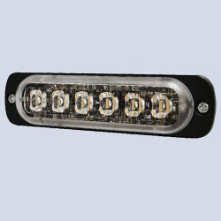 Brooking Industries ST6 Super Thin 6 LED Surface Mount Lighthead, Black Bezel Included, Horizontal or Vertical Application, 4x1x0.35