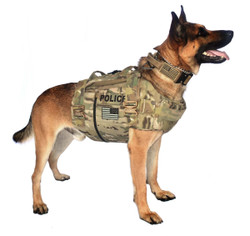 Propper® K-9 Carrier Ballistic Overt Soft Body Armor Carrier, Choose Carrier only or Carrier and Plates, NIJ Certified Level 2 or Level 3A Threat Levels, provides MOLLE webbing attachment points
