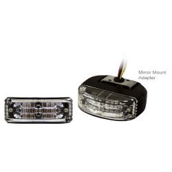 Brooking Industries AL6-M Wide Angle 6 LED Light mounts under the Side-View Mirror, Universal, 3x1x3