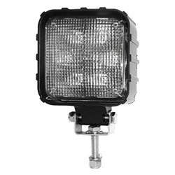 Brooking Industries WLC-506BF-D7 6 LED Square Work Light, 1900 Lumens, Area/Scene Light, 5x6x3
