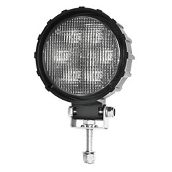 Brooking Industries WLB-506FB-D7 6 LED Round Work Lamp, Area / Flood / Scene Light, 1900 Lumens, 5x6x3, Single Bolt Mount, Black Housing