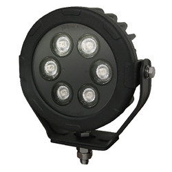 Brooking Industries WLE-6B076-00  6 LED Round Work Light, 4800 Lumens, Area/Scene Light, 6x7x3
