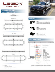 """Brooking Industries Legion FIT Light Bar, Full Size Exterior, Available in 43"""", 49"""", 54"""", 60"""", 66"""", 72"""" or 84"""" Models"""