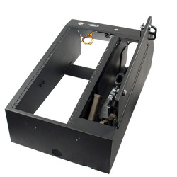 Jotto Desk 425-6491 Wide Body AR/ZRT Console, with Optional Floor Plate, includes faceplates and filler panels