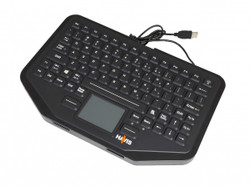 Havis KB-106 Rugged Integrated Touchpad Keyboard, Quick Release when Used with Havis Patented Keyboard Mount, Compatible with Windows and Mac Devices, Optional Patented Keyboard Mounting System and Motion Device Available