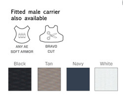 Armor Express ® Fearless Concealable Female Ballistic Body Armor Carriers, Choose Carrier only, NIJ Certified - Level 2, or Level 3A Threat Level, a premium covert solution