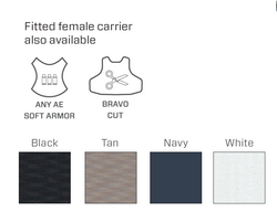 Armor Express ® Fearless Female Concealable Ballistic Body Armor Carriers, Choose Carrier only or Carrier and Plates, NIJ Certified - Level 2, or Level 3A Threat Level - featuring a proprietary yoke design aiding in comfort and concealment