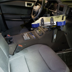 Jotto-Desk 2020 Ford Police Interceptor PI Utility 425-5699/4143 A-MOD Laptop Computer Mount, Console Side-Mount, works with console 425-6505