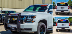 New 2020 4x4 White Tahoe PPV V8, ready to be built as a Slick-Top Admin Package, choose any color LEDs, 4WD, + Delivery