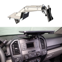 Havis C-DMM-2006 Dashboard Monitor or Tablet Mount for 2017-2019 Ford F-250, 350, 450 Pickup and F-450, 550 Cab Chassis, 2018-2019 Ford Expedition, and 2015-2019 Ford F-150, Landscape or Portrait Applications with Tilt Swivel Motion for Left, Right,