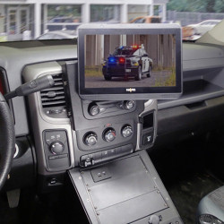 "Havis C-DMM-2016 Dashboard Monitor or Tablet Mount for 2013-2019 Dodge Ram 1500, 2500, 3500 Retail, 1500 Special Services Law Enforcement, and 1500 Tradesman Pickup Trucks with ""Classic"" DS Body style with Tilt Swivel Motion for Left, Right, Up and D"