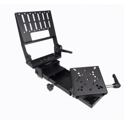Havis C-MD-312 Vehicle Heavy Duty Monitor or Tablet and Keyboard Mount, includes Motion Device, includes VESA 75 and Amps Hole pattern, mount to the top of a console, pole mount, or any flat surface