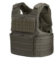 Armor Express ® Hard Core H3 Men's Overt Ballistic Body Armor Carrier, Adjustable Shoulders and waist, Ventilation Liner system and front kangaroo pouch-Choose Carrier only or Carrier and Plates, NIJ Certified - Level 2, or Level 3A Threat Level