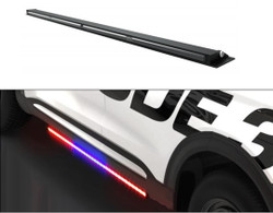 Code-3 Dodge Charger 2015-2020 Outliner C3RNR Perimeter Runner Board Light Bar Stick, 60 Inches, pair, fits driver and passenger side, kit