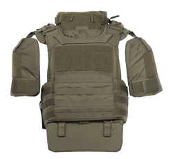 Armor Express ® TORC -Tactical Operations Response Carrier -  An Overt Carrier With a kangaroo pouch, dynamic  cummerbund and multiple add-ons, Includes  NIJ Certified Level IIIA Plates