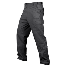 Condor Outdoor 608 Sentinel Tactical Pants with Two Cargo Pockets and Elastic Waistband, Polyester/Cotton, available in Black, Olive Drab, Tan, Khaki, Navy, and Graphite